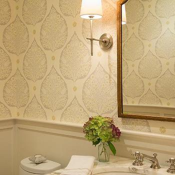 Powder Room Wainscoting Contemporary Bathroom