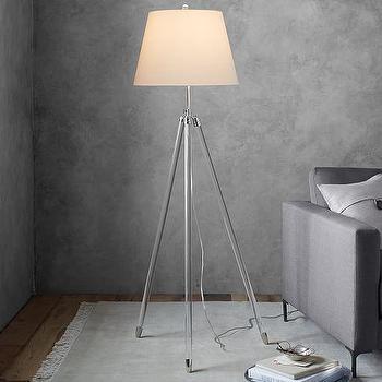Clear Acrylic Column Floor Lamp