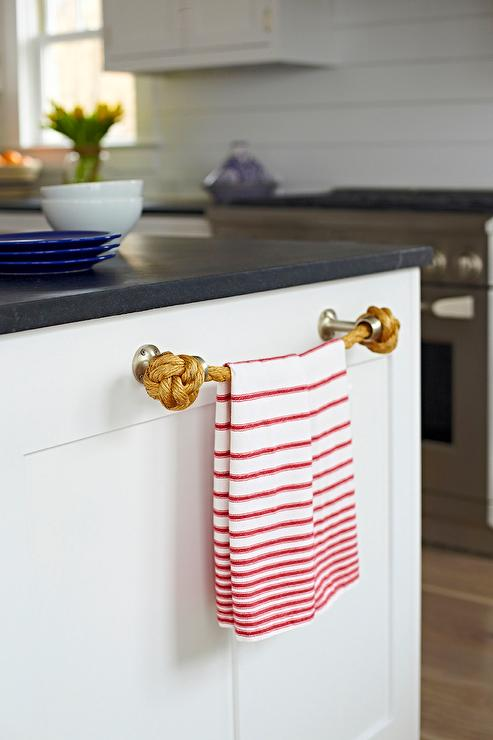 Beach Bungalow Kitchen With Rope Towel Holder