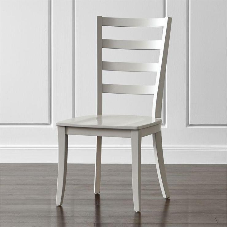 Mentz Host Grey and White Dining Chair : ladder back light gray dining chair from www.decorpad.com size 740 x 740 jpeg 42kB