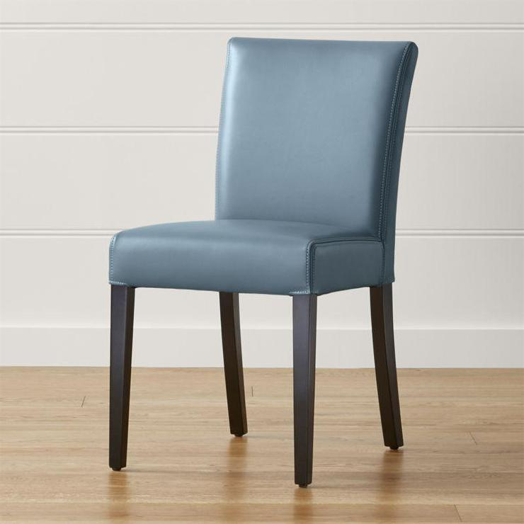 Blue Leather Dining Chairs At