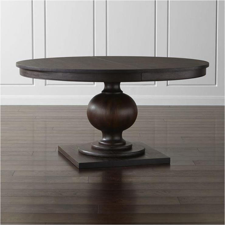 brown round extendable dining table. Black Bedroom Furniture Sets. Home Design Ideas