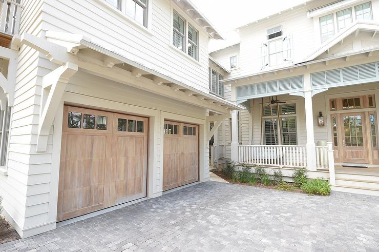Beach Bungalow Home with Two Car Garage - Cottage - Garage ...