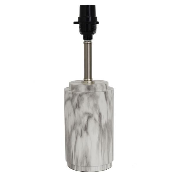 Black And White Faux Marble Table Lamp