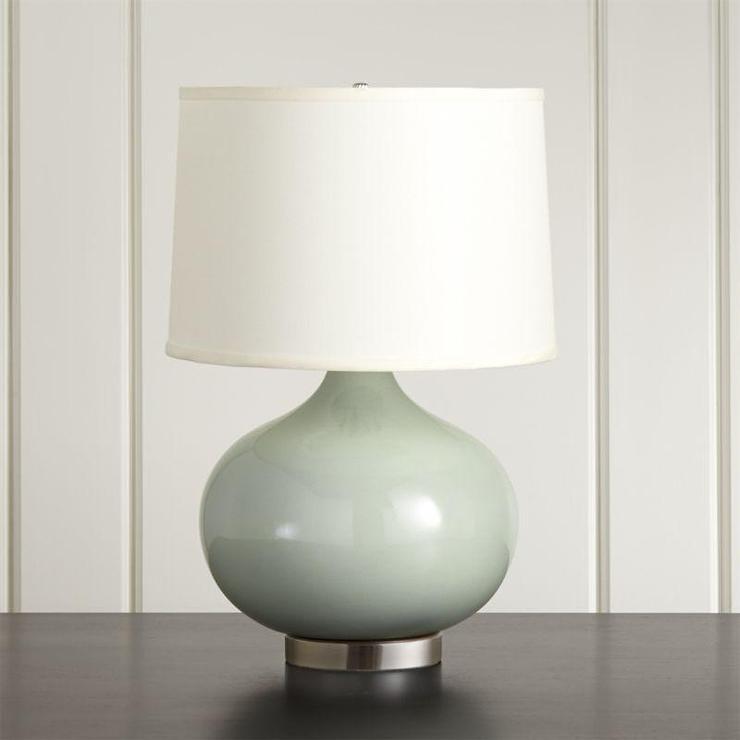 Great Nickel Base Blue Gourd Table Lamp