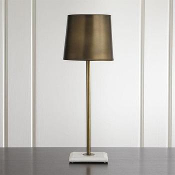 Aged Brass Circle Buffet Table Lamp