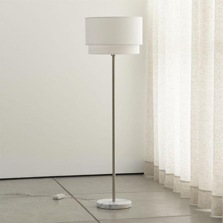 Tiered shade floor lamp white tiered shade floor lamp aloadofball Gallery