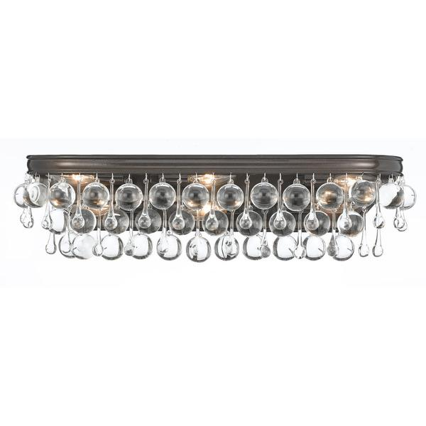 Bathroom Light Fixtures Clear Glass silver steel clear glass vanity light