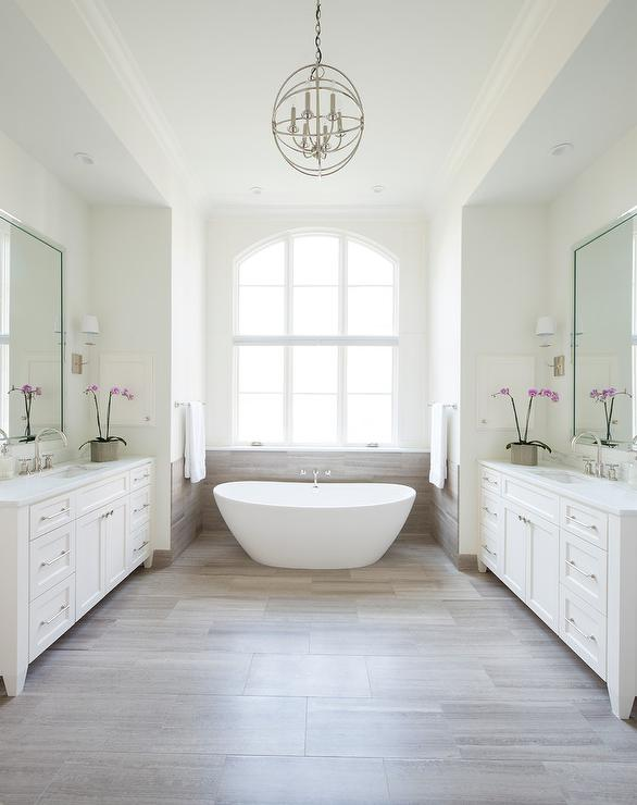 Limestone tile floor transitional bathroom gilday for Limestone tiles bathroom ideas