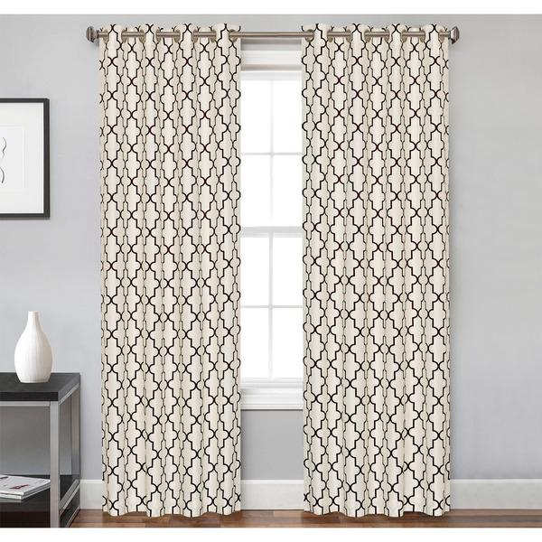 curtains and panel pattern bookmark ivory curtain trellis htm brown