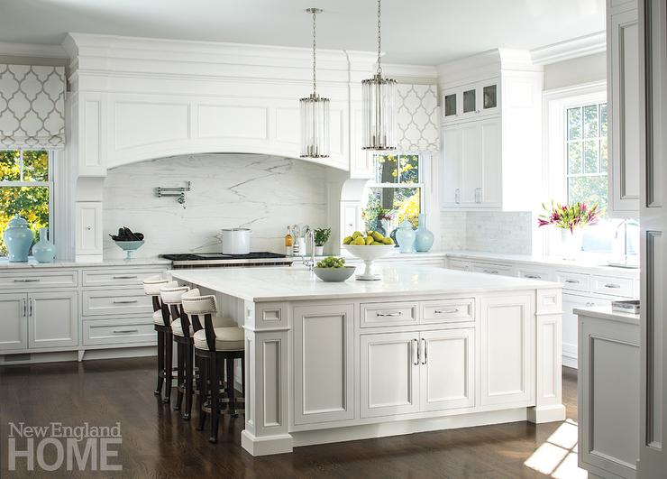 White Kitchen Hood curved ivory kitchen hood design ideas