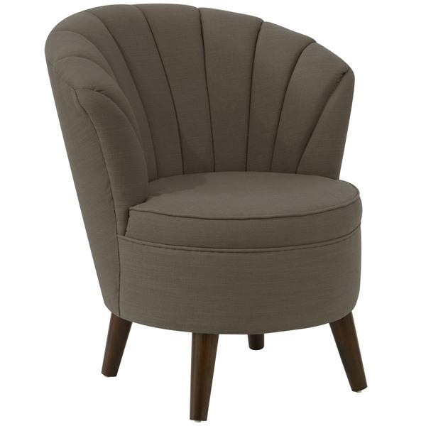 gray channel seam tub chair channel tufted furniture