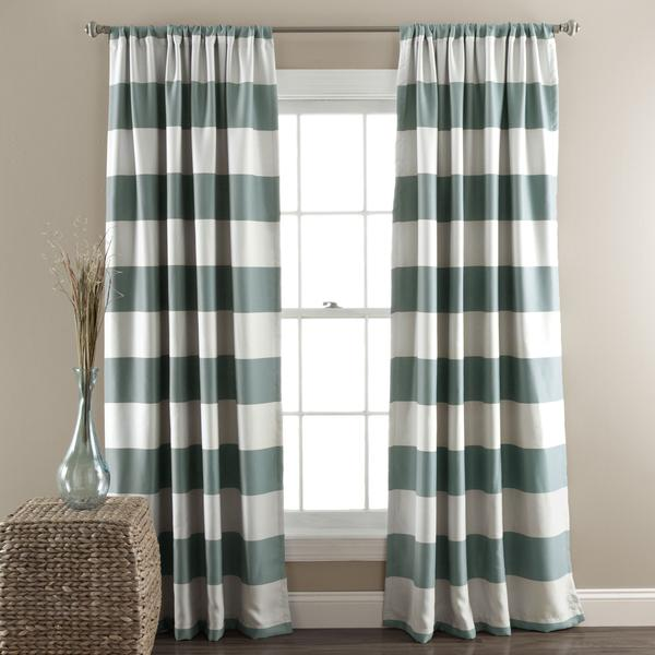 Curtains Ideas brown white striped curtains : and White Thick Stripe Curtain Panel