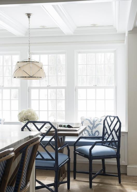navy blue bamboo dining chairs design ideas