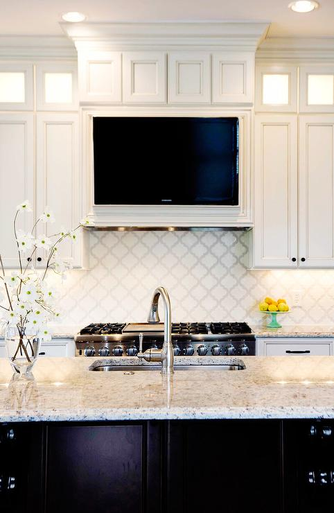 Gray Stone Backsplash Kitchen