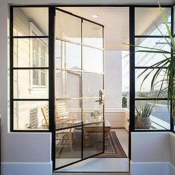 Black French Balcony Doors Design Ideas