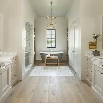 Slope Shiplap Bathroom Ceiling Design Ideas