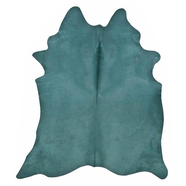 Teal Hide Organic Shape Rug