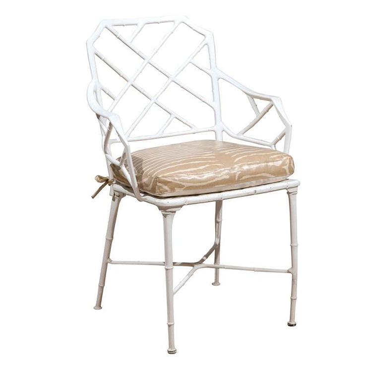 White And Brown Bamboo Frame Zebra Chairs