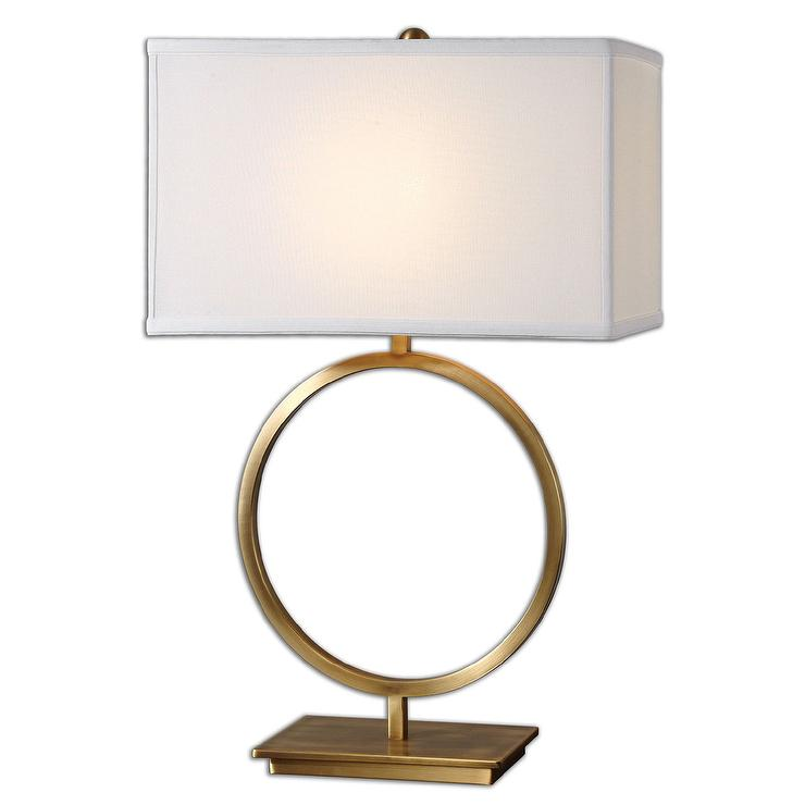 Uttermost Duara Brushed Brass One Light Table Lamp Look For Less