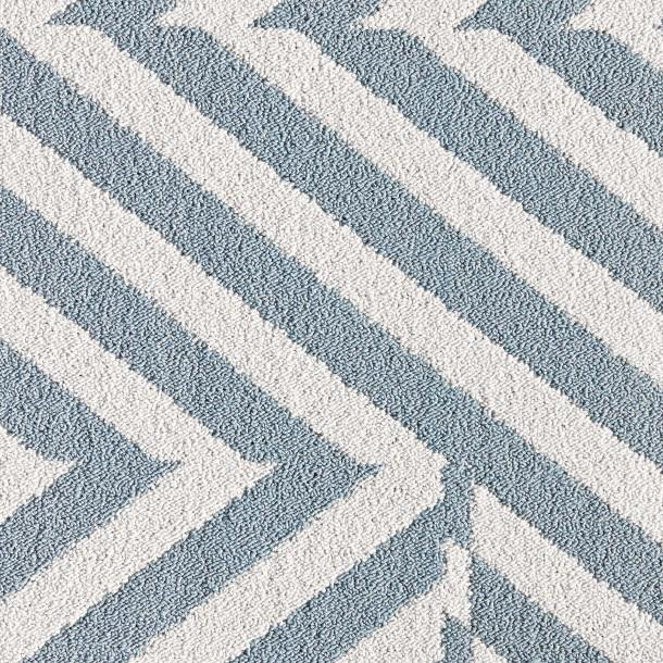 Geometric pattern carpet tiles carpet vidalondon for Blue and white carpet