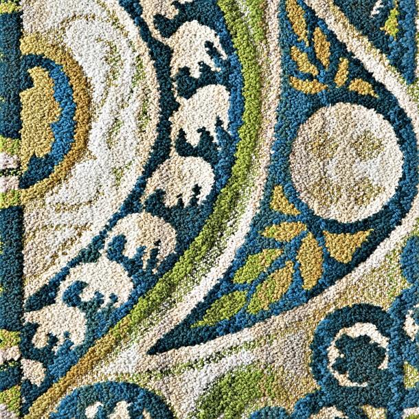 Blue Green And Grey Living Room: Blue And Green Swirls Rug