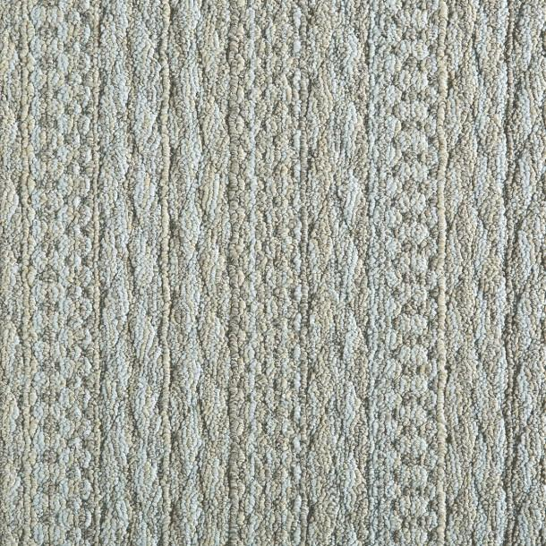 Cable Knit Motif Gray Rug