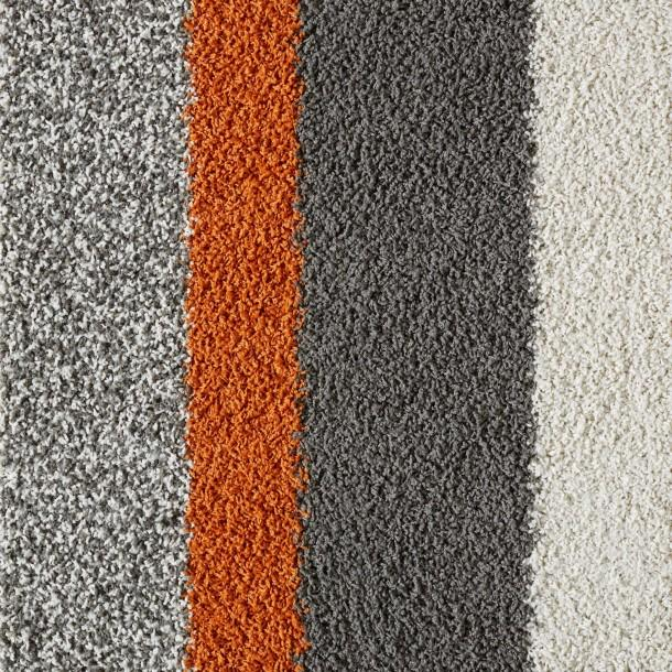 Orange and Gray Lines Carpet Tile