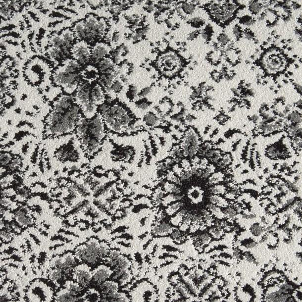 Black And Gray Floral Pattern Carpet Tile