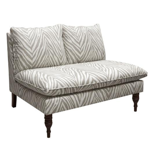 Black And White Braided Rope Print Settee