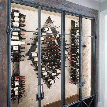 Foreside 15 Bottle Black Metal Wall Wine Rack