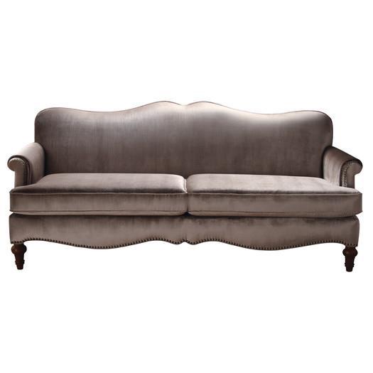 Taupe Velvet Sofa: Lilla Taupe Sofa
