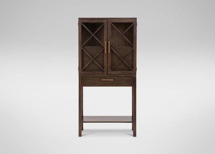Hemnes Glass Door Cabinet Gray Brown Ikea