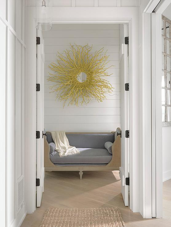 Gray Foyer Rug : Gray and gold foyer with antelope rug contemporary