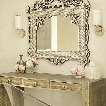 Ornate Makeup Vanity Mirror Design Ideas