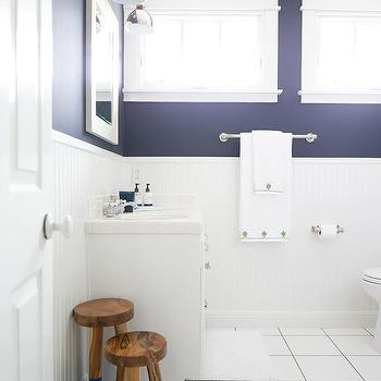 navy blue bathroom walls design ideas