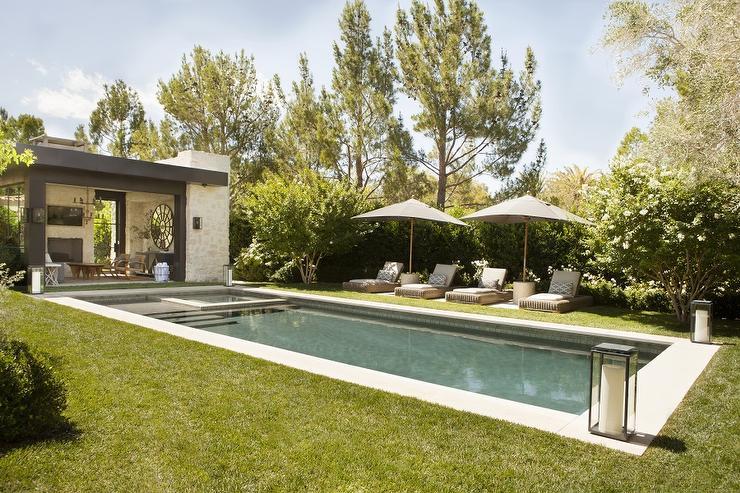 corner hot tub spa. Pool Steps Next To Hot Tub  Transitional Deck Patio