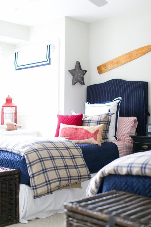 blue gingham boys duvet design ideas