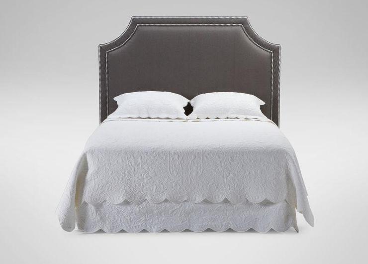 Gray Cut Corner Upholstered Headboard