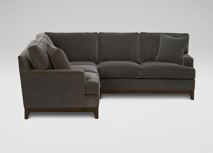 Gray Tapered Legs Sectional Great Ideas