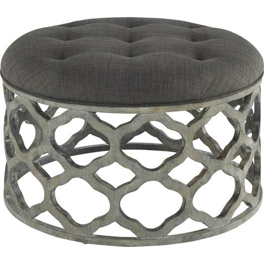 Quatrefoil Gray Cushioned Coffee Table - Quatrefoil Coffee Table - Products, Bookmarks, Design, Inspiration
