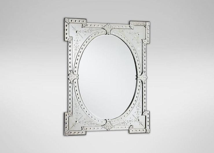 Etched Venetian Mirror View Full Size