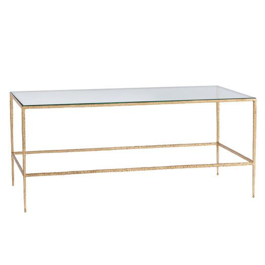 hammered iron glass coffee table