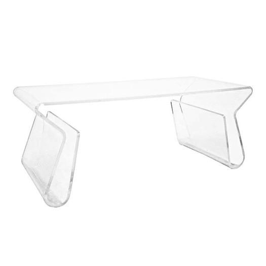 clear acrylic magazine rack coffee table