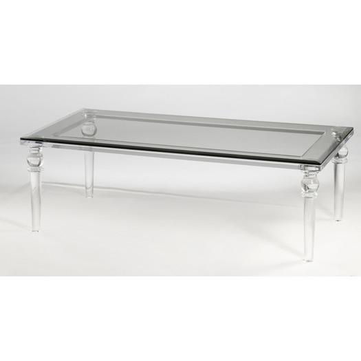Lucite clear coffee table for Clear lucite acrylic coffee table