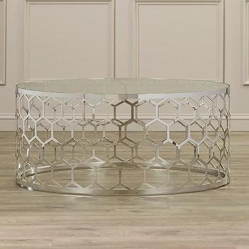 Vince Metal Clad Coffee Table In Gold