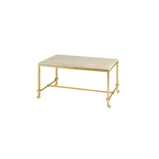 Iron And Stone Oval Coffee Table -> Gold Rectangle Table