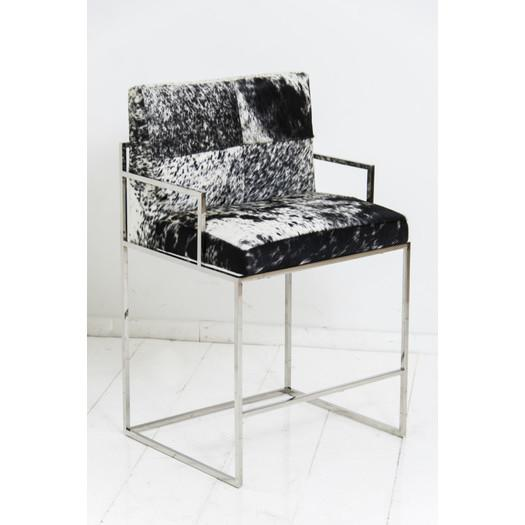 Cowhide Barstools Vintage Black White Hairhide Leather Bar: Folding Cowhide Stool In Black And White