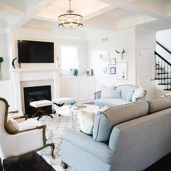 French Living Room Accents Design Ideas