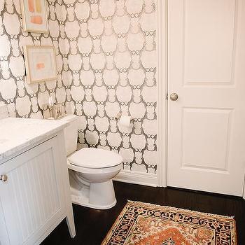 Cheetah Bathroom Wallpaper Design Ideas